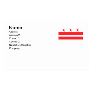 WASHINGTON D.C. Double-Sided STANDARD BUSINESS CARDS (Pack OF 100)