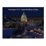 Washington D.C. Capitol Building en noche del Postal