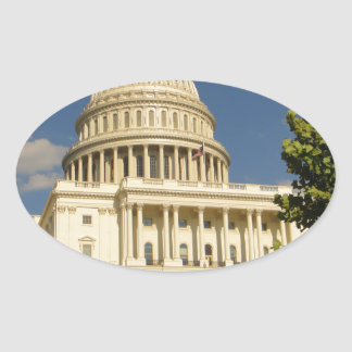 Washington D.C. Capitol Building Oval Sticker