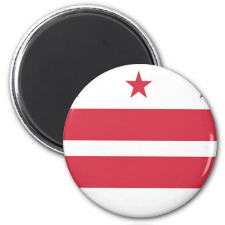 Washington D.C. Flag 2 Inch Round Magnet