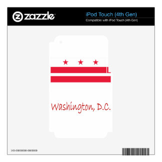 Washington, D.C. Flag And Name Skins For iPod Touch 4G