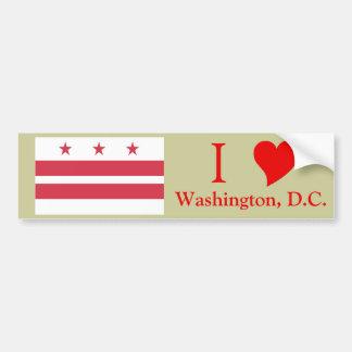 Washington D.C. Flag Bumper Sticker