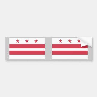 Washington D.C. Flag Etiqueta De Parachoque
