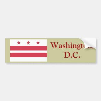 Washington D.C. Flag Pegatina De Parachoque