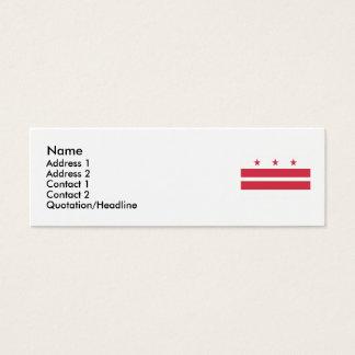 Washington D.C. Flag Mini Business Card