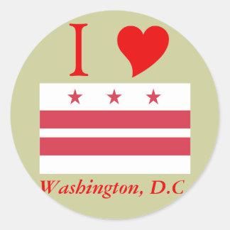 Washington D.C. Flag Pegatinas Redondas