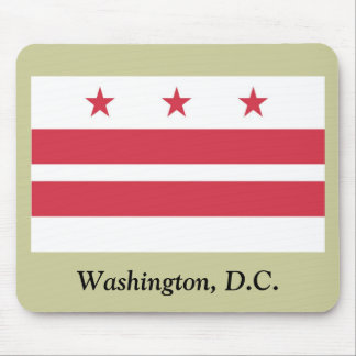Washington D.C. Flag Alfombrillas De Ratones
