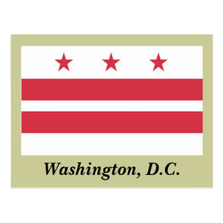 Washington D.C. Flag Tarjetas Postales