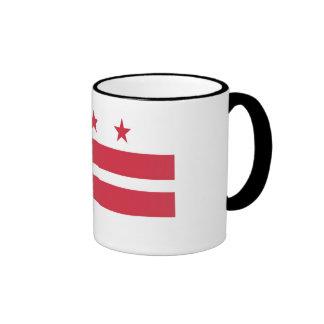 Washington D.C. Flag Taza De Dos Colores