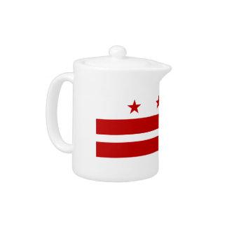 Washington, D.C Flag Teapot
