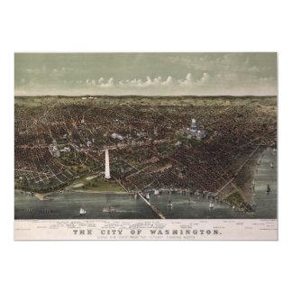 Washington D.C. From Potomac Looking North (1892) Card