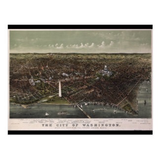 Washington D.C. From Potomac Looking North (1892) Postcard