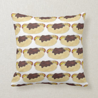Washington D.C. Half Smoke Sausage Chili Hot Dog Throw Pillow
