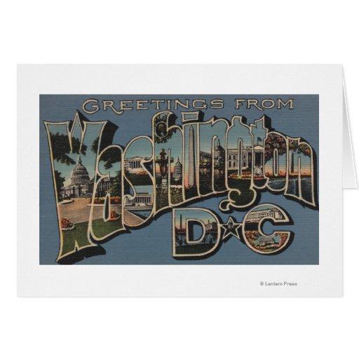 Washington D. C. - Large Letter Scenes Greeting Card