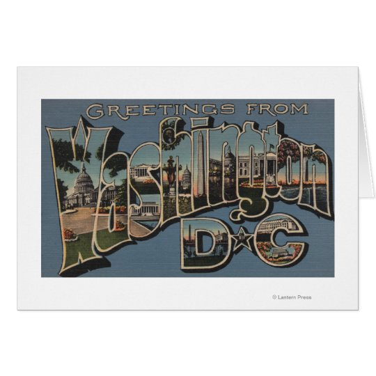 Washington D. C. - Large Letter Scenes Card