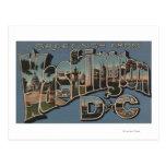Washington D. C. - Large Letter Scenes Postcard