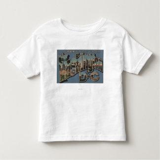 Washington D. C. - Large Letter Scenes Tshirts
