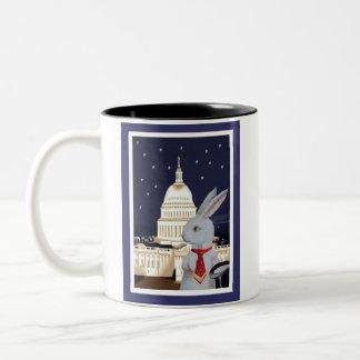Washington D.C. Needs A White Rabbit Two-Tone Coffee Mug