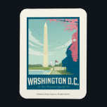 "Washington, D.C. - Our Nation&#39;s Capital Magnet<br><div class=""desc"">Anderson Design Group is an award-winning illustration and design firm in Nashville,  Tennessee. Founder Joel Anderson directs a team of talented artists to create original poster art that looks like classic vintage advertising prints from the 1920s to the 1960s.</div>"