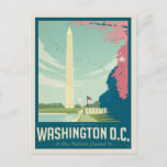 """Washington, D.C. - Our Nation's Capital Postcard<br><div class=""""desc"""">Anderson Design Group is an award-winning illustration and design firm in Nashville,  Tennessee. Founder Joel Anderson directs a team of talented artists to create original poster art that looks like classic vintage advertising prints from the 1920s to the 1960s.</div>"""