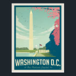 "Washington, D.C. - Our Nation's Capital Postcard<br><div class=""desc"">Anderson Design Group is an award-winning illustration and design firm in Nashville,  Tennessee. Founder Joel Anderson directs a team of talented artists to create original poster art that looks like classic vintage advertising prints from the 1920s to the 1960s.</div>"