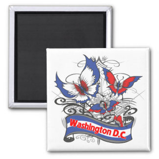 Washington D.C. Patriotism Butterfly Magnets