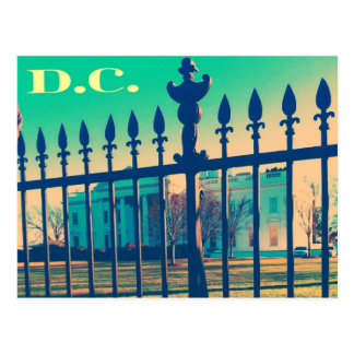 washington d.c. postcard white house