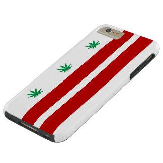 Washington D.C. Pot Leaf Flag Tough iPhone 6 Plus Case