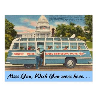 Washington D.C., Sightseeing Tours Postcard