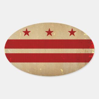 Washington, D.C. State Flag VINTAGE Stickers