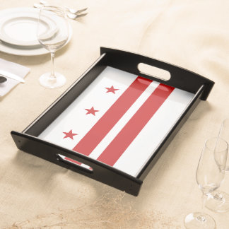 Washington, D.C. State Flag WDC Serving Platters