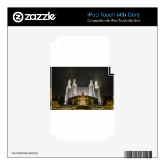 Washington D.C. Temple at Night iPod Touch 4G Skin