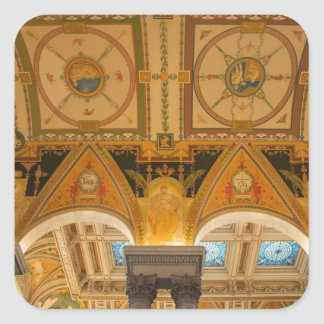 WASHINGTON, D.C. USA. Ceiling in Great Hall of Square Sticker