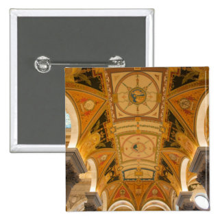 WASHINGTON, D.C. USA. Ceiling of second floor 2 Inch Square Button