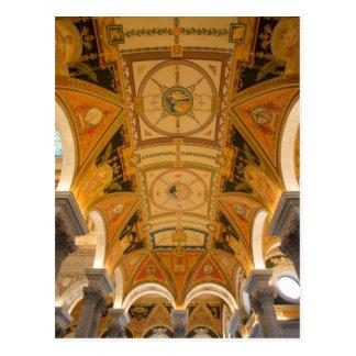 WASHINGTON, D.C. USA. Ceiling of second floor Postcard