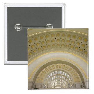 WASHINGTON, D.C. USA. Interior of Union Station. 2 Inch Square Button