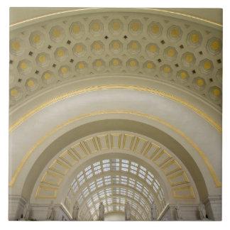 WASHINGTON, D.C. USA. Interior of Union Station. Large Square Tile