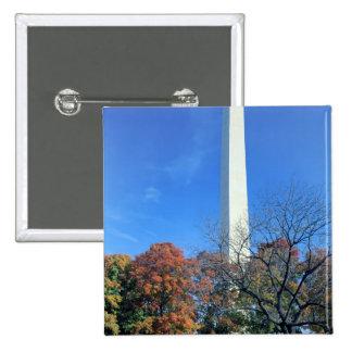 WASHINGTON, D.C. USA. Washington Monument rises 2 Inch Square Button
