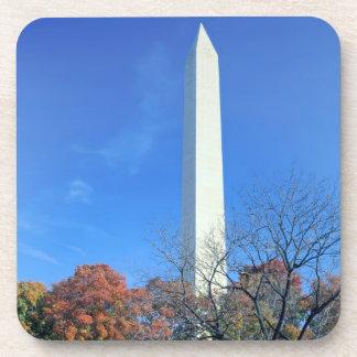 WASHINGTON, D.C. USA. Washington Monument rises Drink Coaster