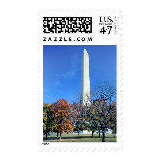WASHINGTON, D.C. USA. Washington Monument rises Postage