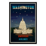 Washington D.C.   Vintage Travel Poster