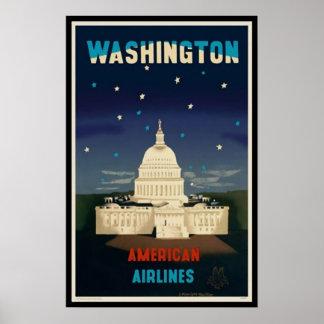 Washington D.C. | Vintage Travel Poster