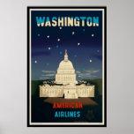 Washington D.C. | Vintage Travel Poster Print