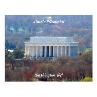 Washington DC 003 del Lincoln memorial Tarjetas Postales