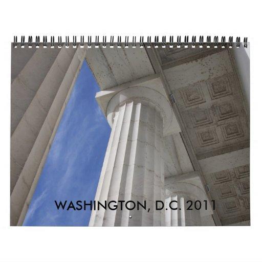 Washington, dc 2011 calendarios de pared