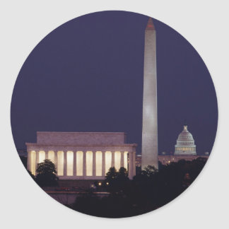 Washington DC 2 Classic Round Sticker