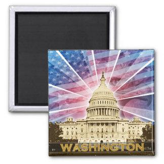Washington DC 2 Inch Square Magnet