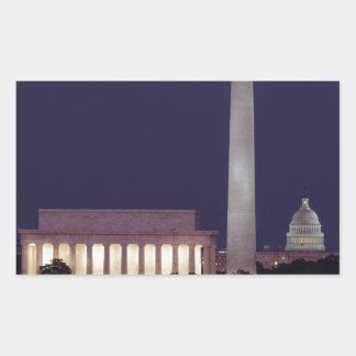 Washington DC 2 Rectangular Sticker