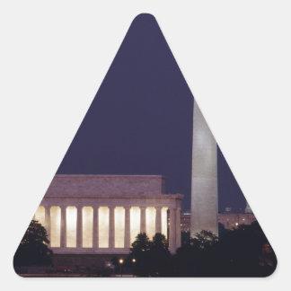 Washington DC 2 Triangle Sticker