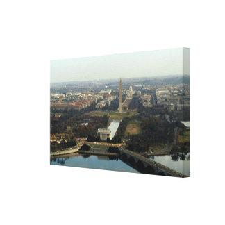 Washington DC Aerial Photograph Canvas Print